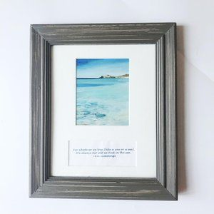 Picture Frame with Quote Space